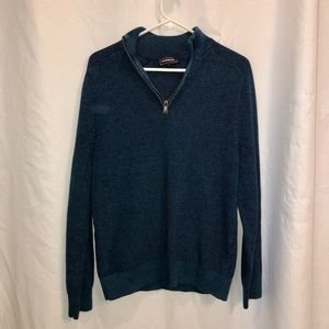 Zip-up V-neck Sweater